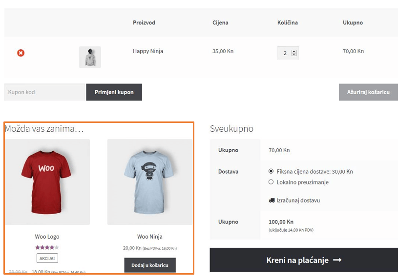Cross-sell proizvodi u WooCommerce 3.1