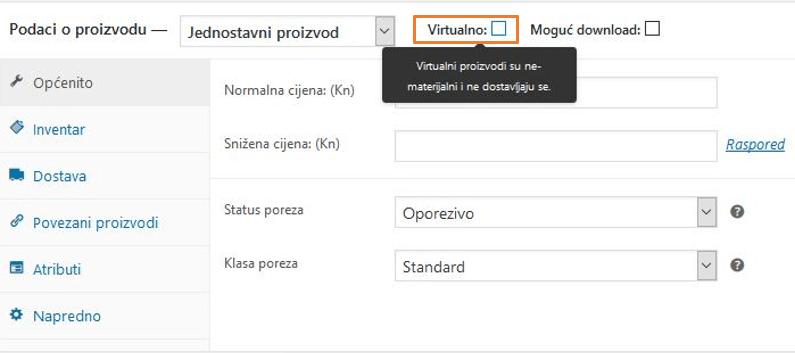 Virtualni proizvodi u WooCommerce 3.1