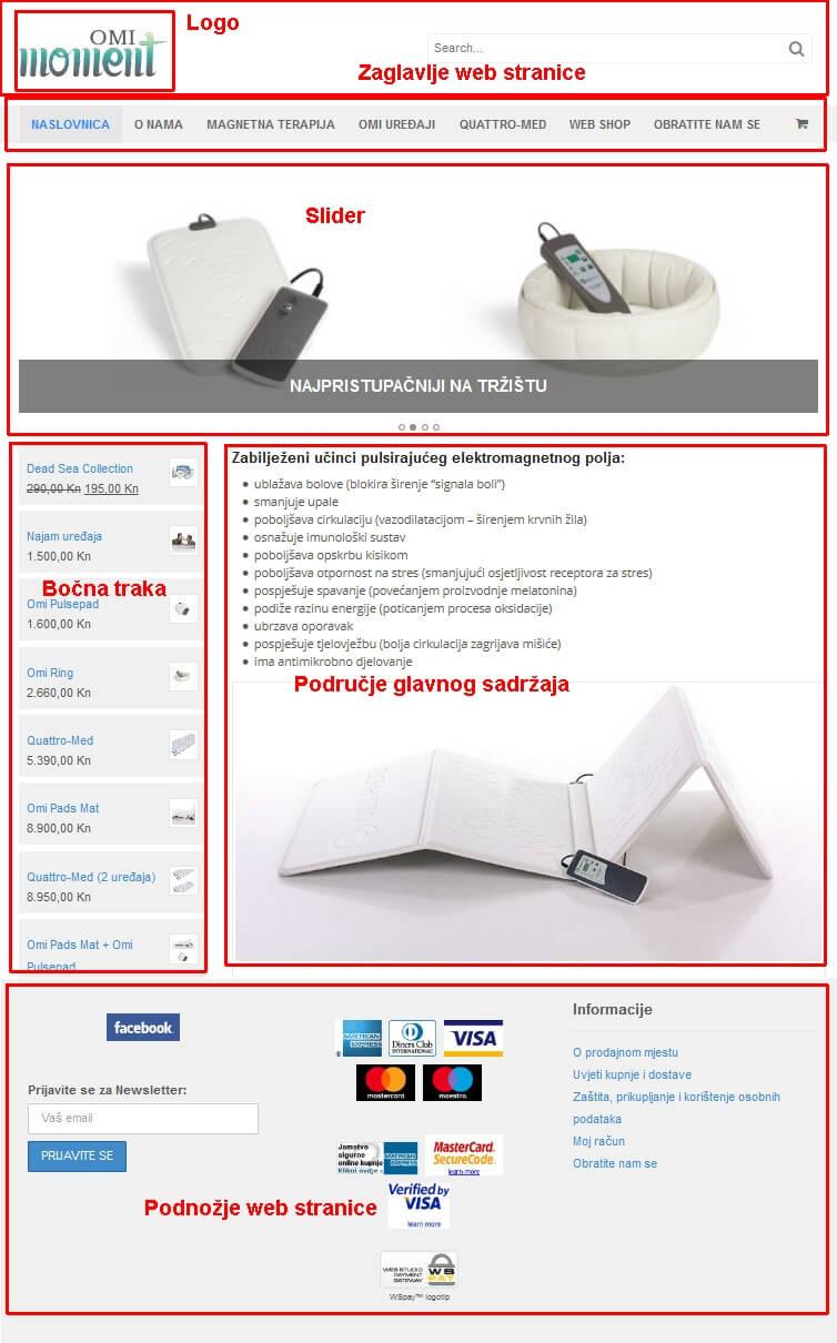 Dizajn moderne poslovne web stranice