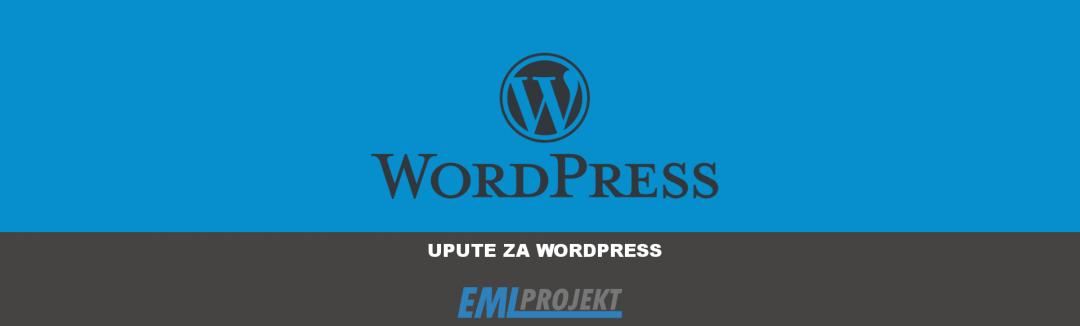Nadzorna ploča CMS WordPress