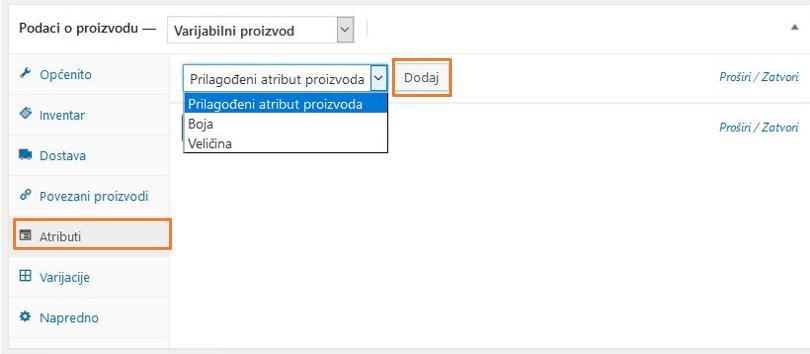 Dodavanje prilagođenih vrijednosti atributa u WooCommerce 3.1