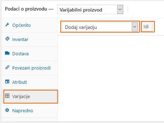 Dodavanje varijacija proizvoda u WooCommerce 3.1
