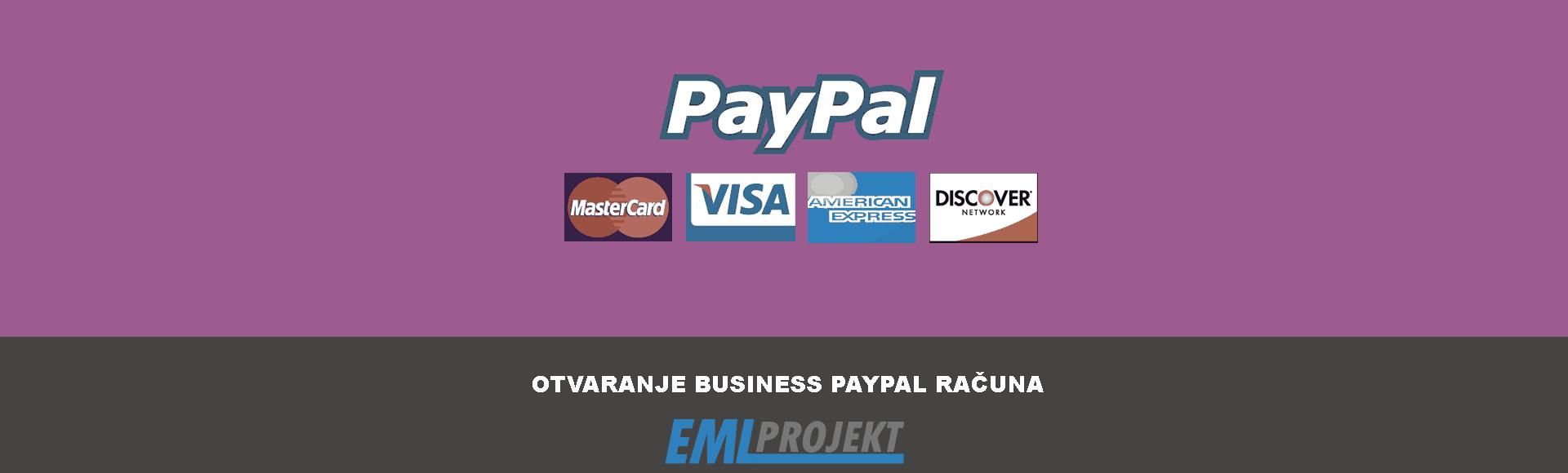 Upute za otvaranje PayPal Business računa